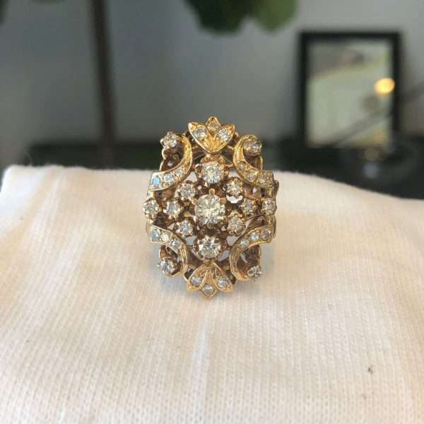 Ladies Fashion 33 Diamonds Ring 1.00CTW 14KYG