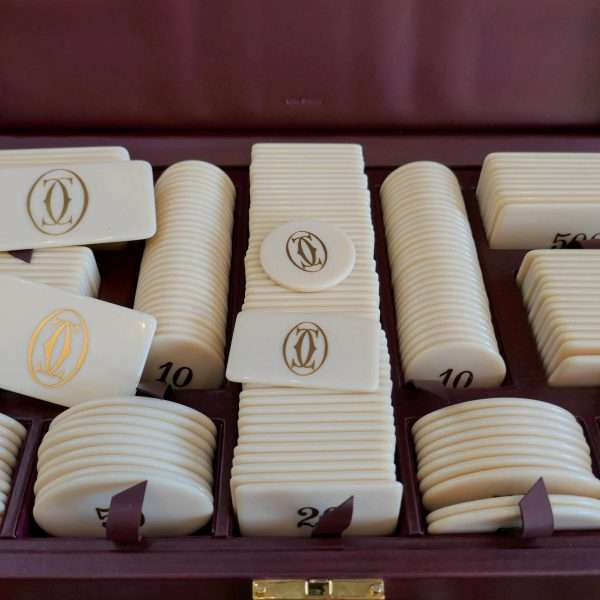 Very Rare Vintage Cartier Baccarat Poker Chips